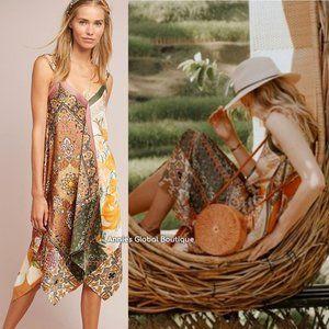 RARE NWT ANTHROPOLOGIE Sebou Scarf-Printed Dress.